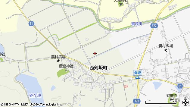 〒675-2345 兵庫県加西市西剣坂町の地図