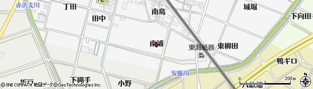 愛知県岡崎市下三ツ木町(南浦)周辺の地図