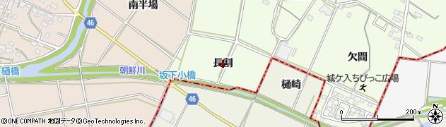 愛知県安城市城ケ入町(長割)周辺の地図