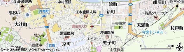 島根県浜田市栄町周辺の地図