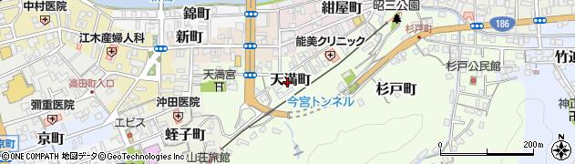 島根県浜田市天満町周辺の地図