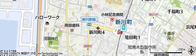 若鶴周辺の地図