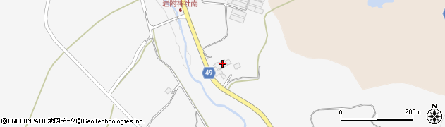 西蔵寺周辺の地図
