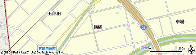 愛知県安城市藤井町(蟻塚)周辺の地図