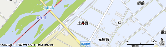 愛知県西尾市新村町(土井野)周辺の地図
