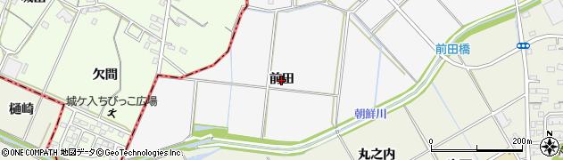 愛知県西尾市南中根町(前田)周辺の地図