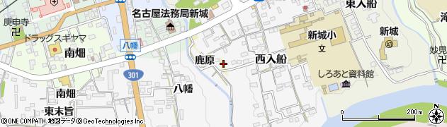 愛知県新城市鹿原周辺の地図