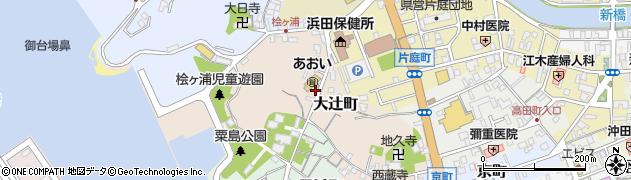 島根県浜田市大辻町周辺の地図