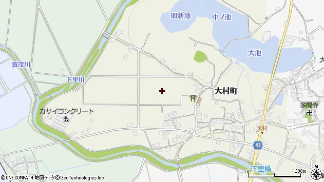 〒675-2234 兵庫県加西市大村町の地図