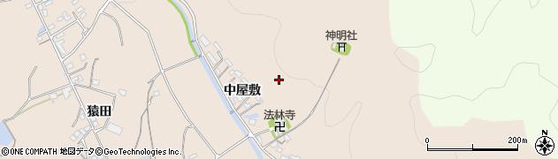 愛知県岡崎市上衣文町(中屋敷)周辺の地図