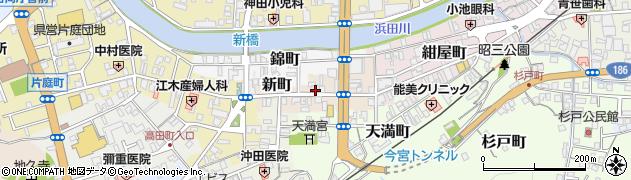 島根県浜田市新町周辺の地図