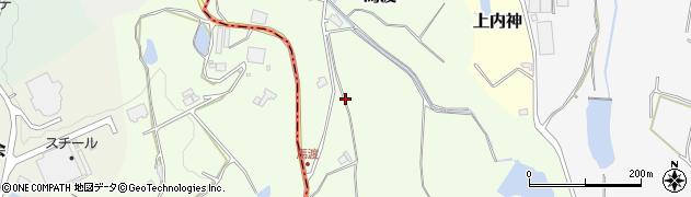 兵庫県三田市馬渡周辺の地図