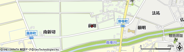 愛知県安城市野寺町(前畑)周辺の地図