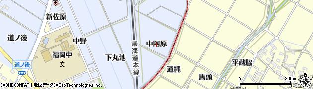 愛知県岡崎市上地町(中阿原)周辺の地図
