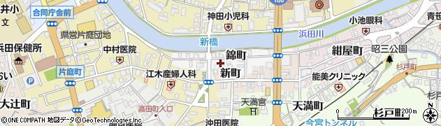 島根県浜田市錦町周辺の地図