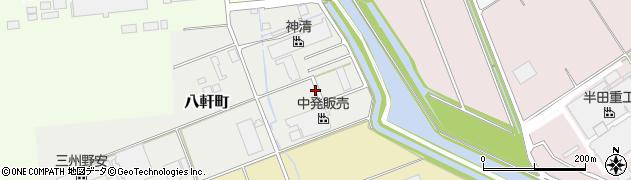 愛知県半田市八軒町周辺の地図