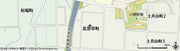 愛知県半田市北滑草町周辺の地図