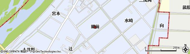 愛知県西尾市高落町(郷前)周辺の地図