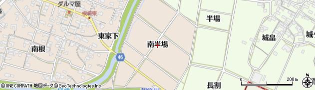 愛知県安城市根崎町(南半場)周辺の地図