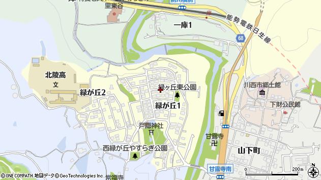 〒666-0157 兵庫県川西市緑が丘の地図
