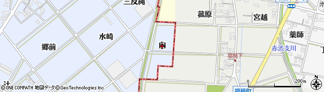 愛知県西尾市高落町(向)周辺の地図