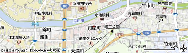 島根県浜田市紺屋町周辺の地図