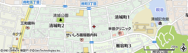 愛知県半田市清城町周辺の地図