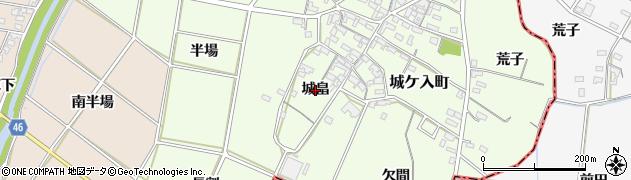愛知県安城市城ケ入町(城畠)周辺の地図