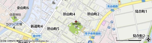 愛知県碧南市笹山町周辺の地図