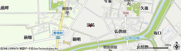 愛知県安城市寺領町(法祐)周辺の地図