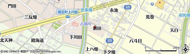 愛知県岡崎市国正町新田周辺の地図
