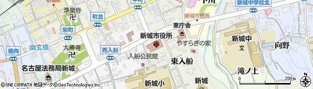 愛知県新城市周辺の地図