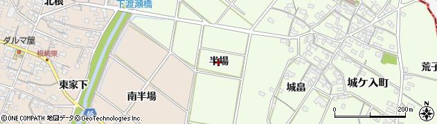 愛知県安城市城ケ入町(半場)周辺の地図