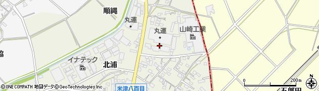 愛知県西尾市米津町(八百目)周辺の地図
