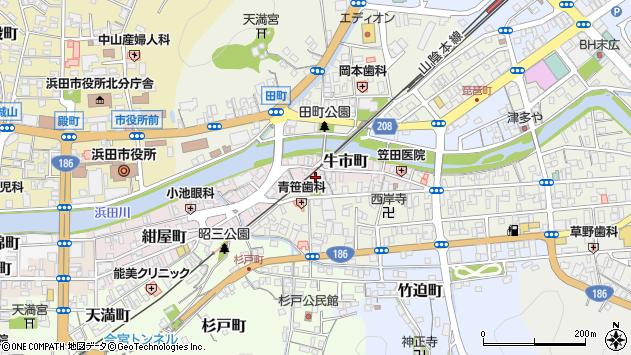 〒697-0032 島根県浜田市牛市町の地図