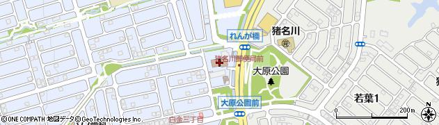 猪名川郵便局周辺の地図