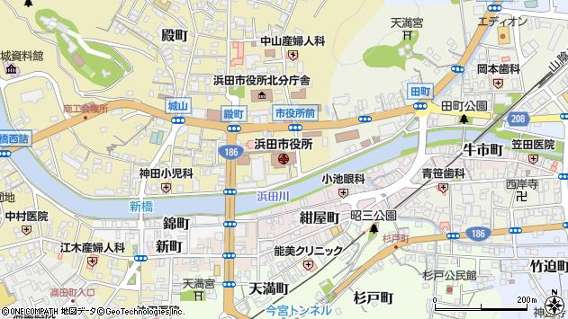 〒697-0000 島根県浜田市(以下に掲載がない場合)の地図
