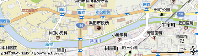 島根県浜田市周辺の地図
