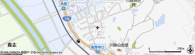 兵庫県三田市川除周辺の地図