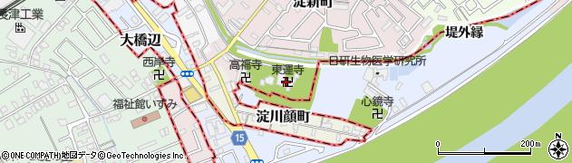 東運寺周辺の地図