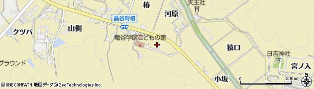 愛知県岡崎市桑谷町(一斗目)周辺の地図