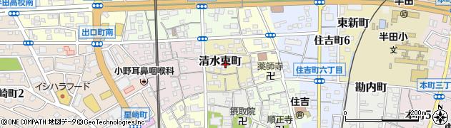 愛知県半田市清水東町周辺の地図