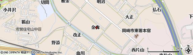 愛知県岡崎市舞木町(金森)周辺の地図