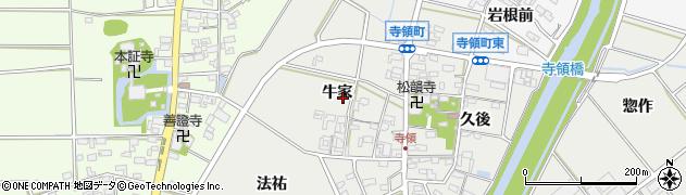愛知県安城市寺領町周辺の地図