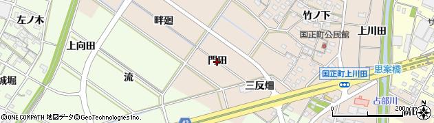 愛知県岡崎市国正町(門田)周辺の地図