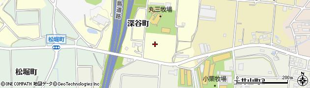 愛知県半田市深谷町周辺の地図