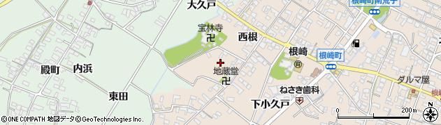 愛知県安城市根崎町(西根)周辺の地図