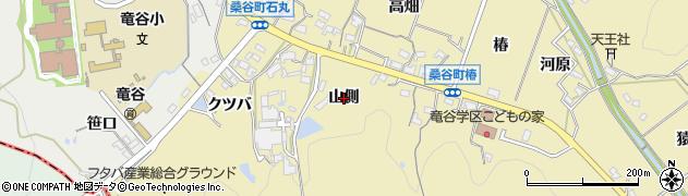 愛知県岡崎市桑谷町(山側)周辺の地図