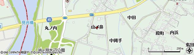 愛知県安城市東端町(山ノ鼻)周辺の地図