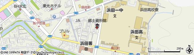 島根県浜田市黒川町周辺の地図